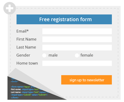 Free registration form